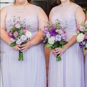 David's Bridal Dresses - Plus Size 26 Long Mesh Bridesmaid Dress